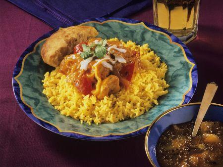 Rezept: Hähnchencurry mit Reis