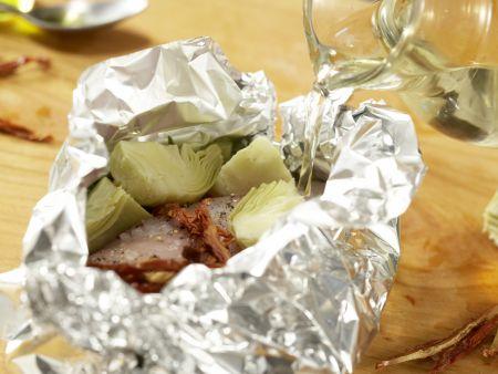 Hähnchenfilet aus der Folie: Zubereitungsschritt 9