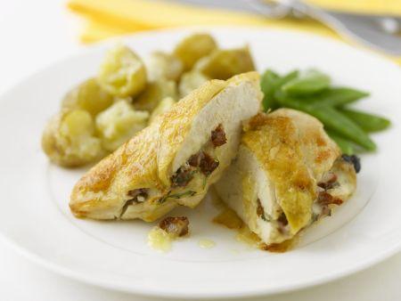 Hähnchenfilet mit Käse überbacken