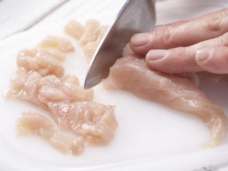 Hähnchengeschnetzeltes: Zubereitungsschritt 4