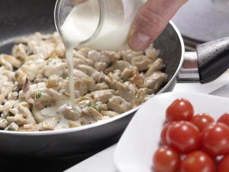 Hähnchengeschnetzeltes: Zubereitungsschritt 6