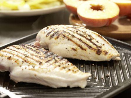 Hähnchensalat mit gegrillten Pfirsichen: Zubereitungsschritt 6