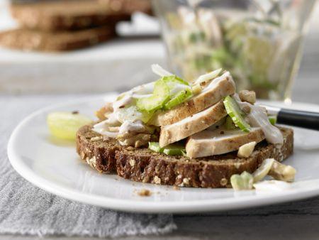 Rezept: Hähnchensalat mit Trauben