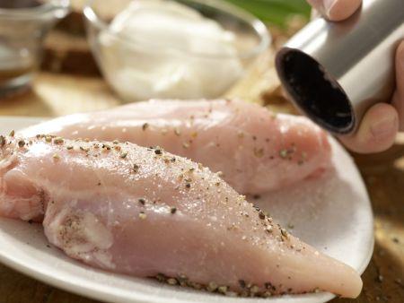 Hähnchensalat mit Trauben: Zubereitungsschritt 1