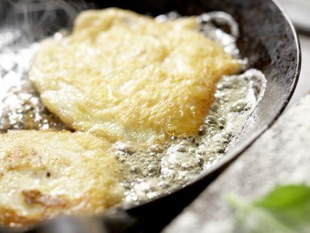 Hähnchenscheiben in Käsepanade: Zubereitungsschritt 10