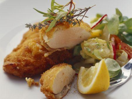 Hähnchenschnitzel mit Kartoffel-Radieschen-Salat