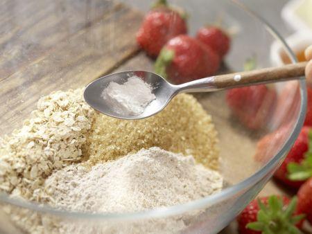 Hafertaler mit Erdbeercreme: Zubereitungsschritt 1