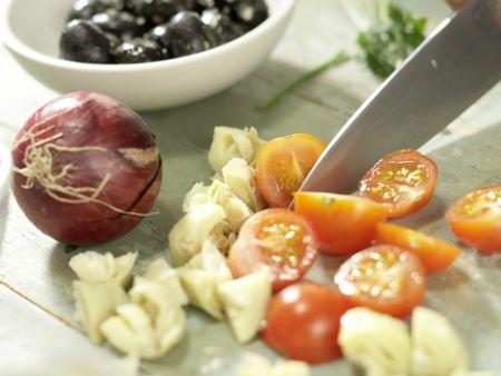 Hausgemachter Kräuter-Joghurt-Frischkäse: Zubereitungsschritt 3