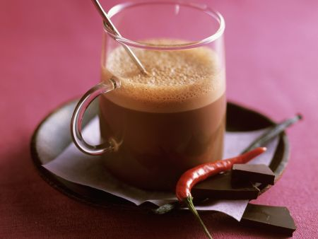 Heiße Schokolade mit Chili