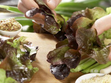 Herbstlicher Salat mit Lammfilet: Zubereitungsschritt 3