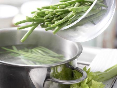 Herings-Bohnen-Salat: Zubereitungsschritt 1