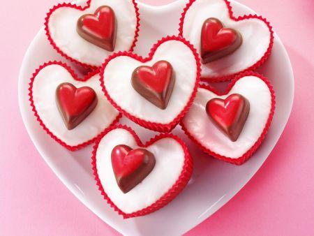 Herz-Cupcakes