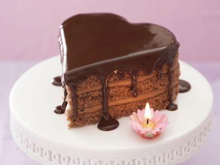 Herz-Schokoladenkuchen