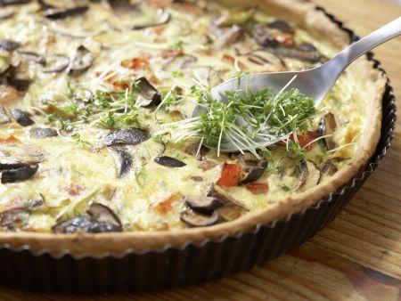 Herzhafte Tarte mit Pilzen: Zubereitungsschritt 11