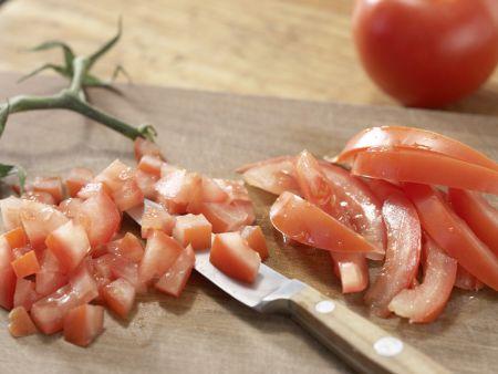 Herzhafte Tarte mit Pilzen: Zubereitungsschritt 2