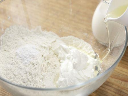 Herzhafte Tarte mit Pilzen: Zubereitungsschritt 6