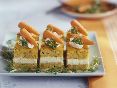 Herzhafter Karottenkuchen