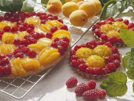 Rezept: Himbeer-Aprikosen-Kuchen
