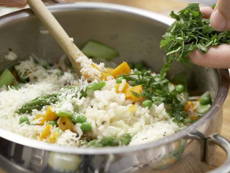 Hirschrücken auf Gemüse-Risotto: Zubereitungsschritt 7