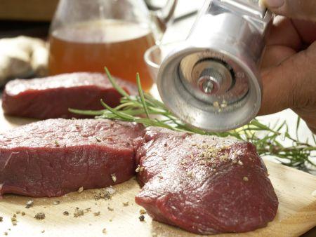 Hirschsteaks aus dem Ofen: Zubereitungsschritt 6