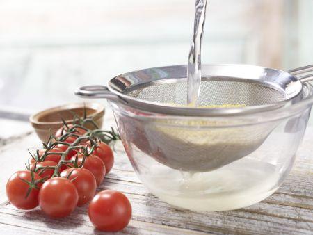 Hirse-Gemüse-Pfanne: Zubereitungsschritt 1