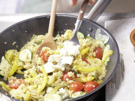 Hirse-Gemüse-Pfanne: Zubereitungsschritt 7