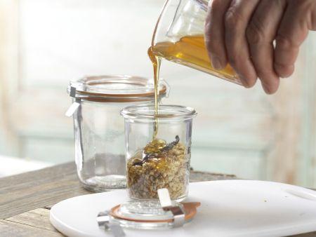 Honigsüße Brotschnitten: Zubereitungsschritt 2