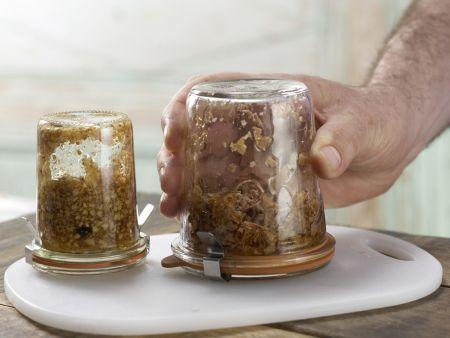 Honigsüße Brotschnitten: Zubereitungsschritt 4