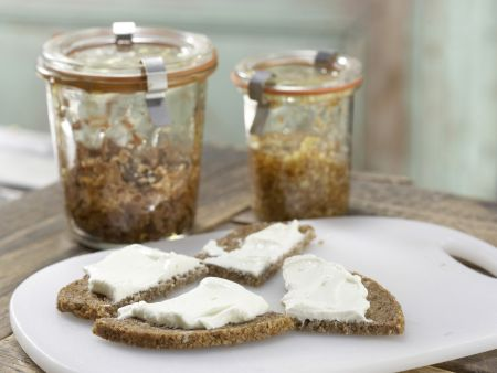 Honigsüße Brotschnitten: Zubereitungsschritt 5