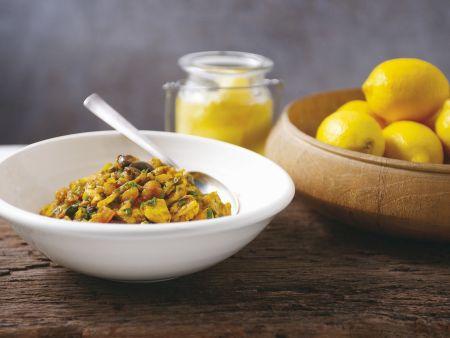 Hühnchen mit Olive und Zitrone auf marokkanische Art