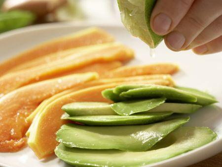 Hummer-Papaya-Salat: Zubereitungsschritt 5