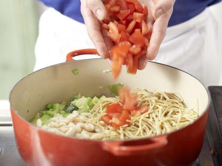 Italienische Gemüsesuppe: Zubereitungsschritt 6