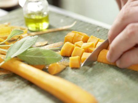 Italienischer Nudel-Bohnen-Eintopf: Zubereitungsschritt 4