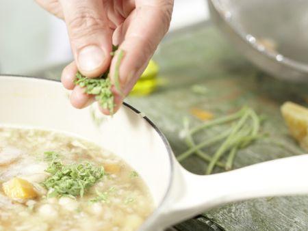 Italienischer Nudel-Bohnen-Eintopf: Zubereitungsschritt 5