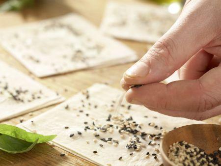 Jakobsmuscheln zwischen Wan-Tan-Blättern: Zubereitungsschritt 8