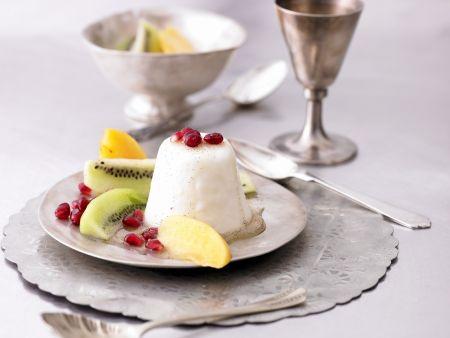 Joghurtpudding mit Südfrüchten
