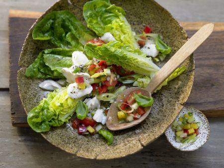 Rezept: Kabeljau auf Gemüsesalat