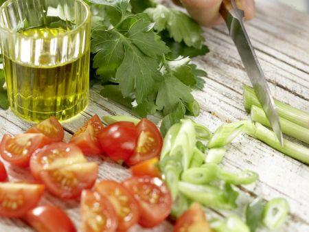 Kabeljau auf Gemüsesalat: Zubereitungsschritt 6