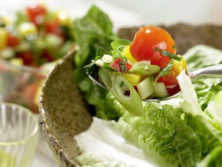 Kabeljau auf Gemüsesalat: Zubereitungsschritt 9