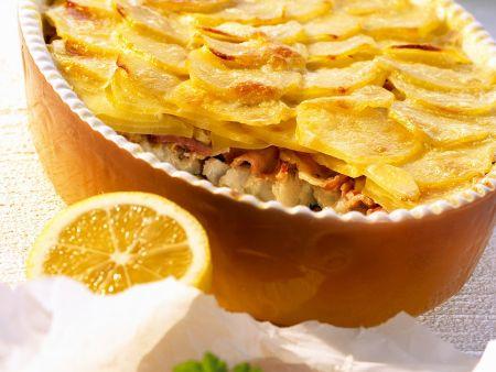 Rezept: Kabeljau-Kartoffelauflauf