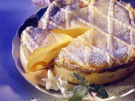 Käse-Aprikosenkuchen