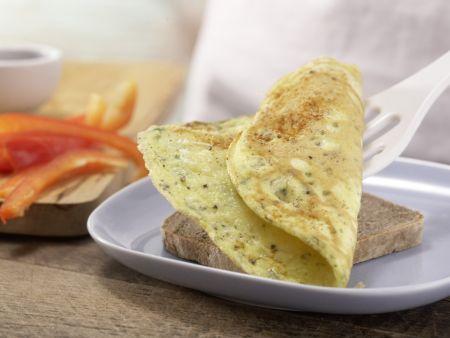 Käse-Omelett auf Vollkornbrot: Zubereitungsschritt 6