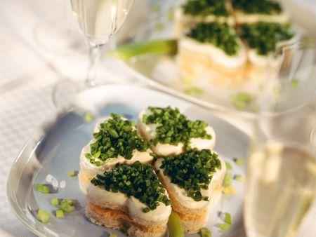 Käse-Schnittlauch-Häppchen