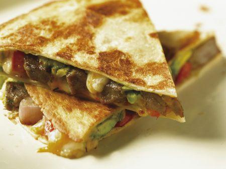 Käse-Tortilla mit Rind