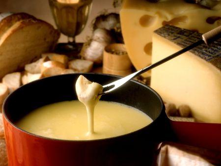 Käsefondue nach Schweizer Art