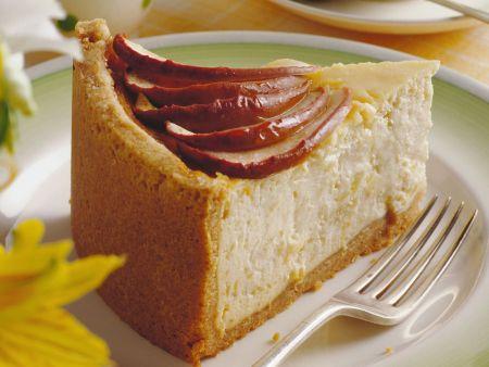 Rezept: Käsekuchen mit Honig-Apfel