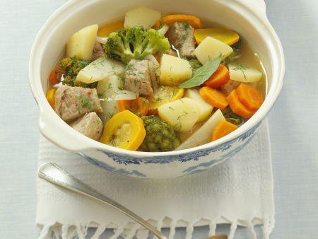 Kalbs-Gemüse-Eintopf