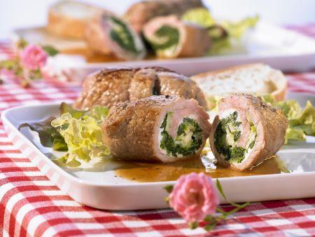 Kalbs-Involtini mit Spinat und Ricotta
