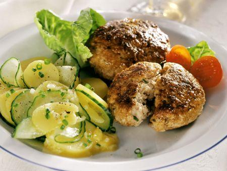 Kalbsbuletten mit Kartoffelsalat