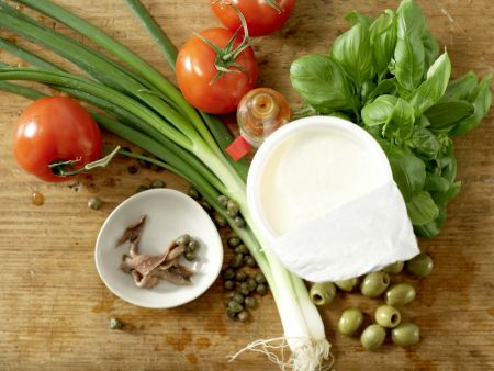 Kalte Basilikum-Dickmilch-Suppe: Zubereitungsschritt 1